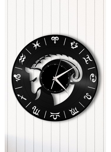 Angemiel Home Burç Astroloji Pleksi Duvar Saati Siyah